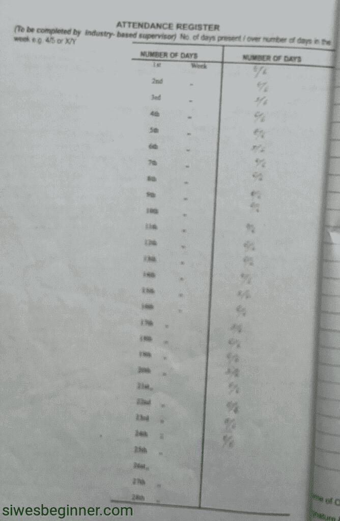filled siwes logbook