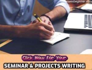 SEMINAR & PROJECTS WRITING