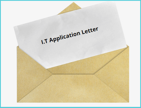 Industrial Training (I.T) Application Letter