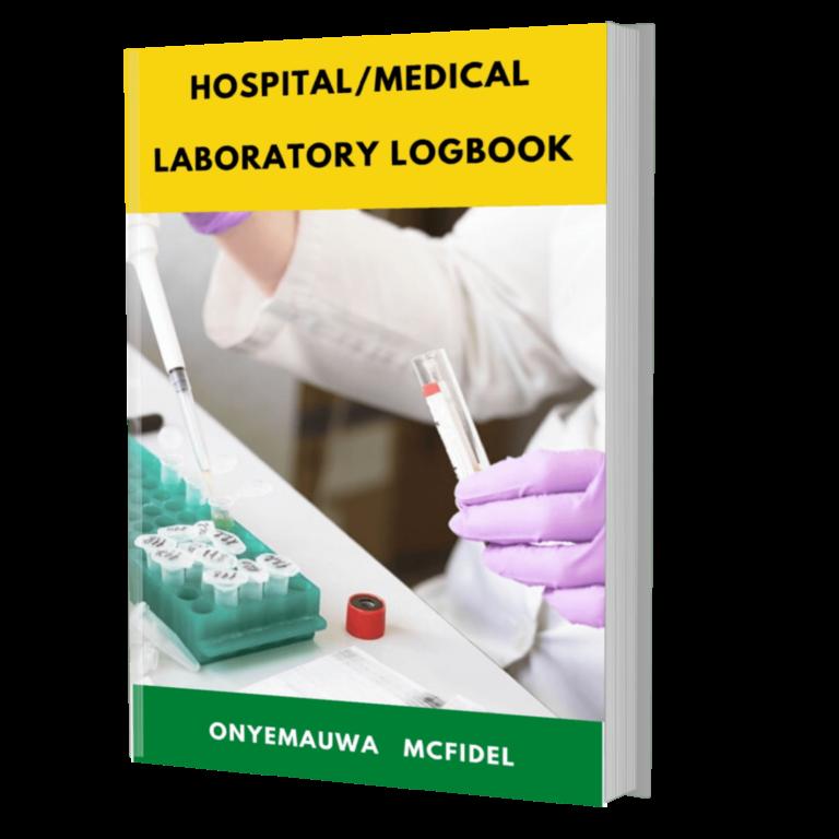 Hospital/Medical Laboratory Logbook