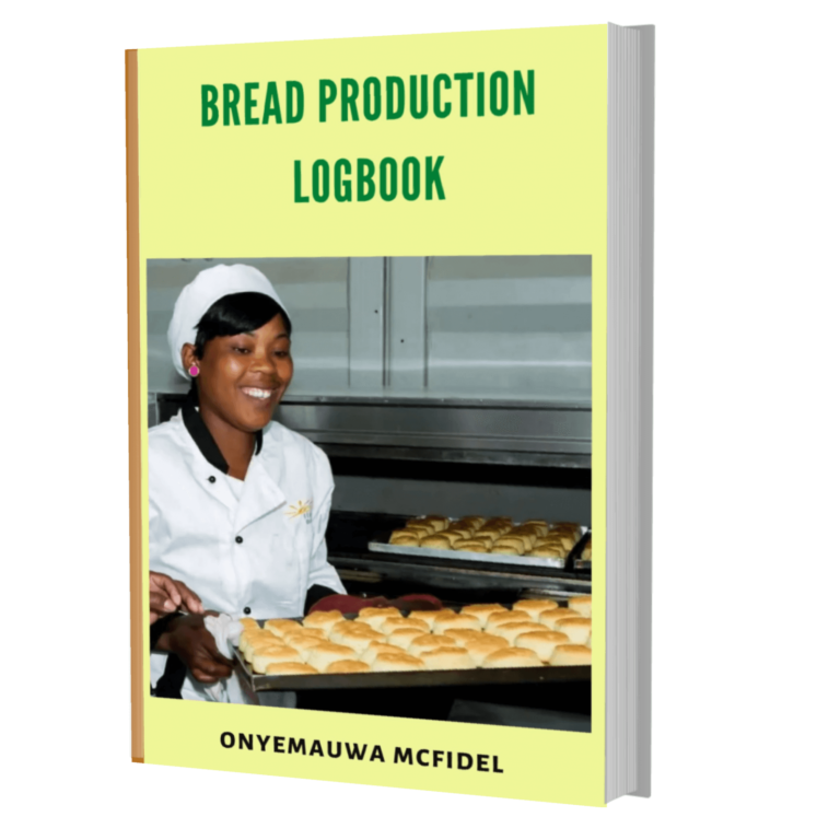 Bakery (Bread Production) Logbook